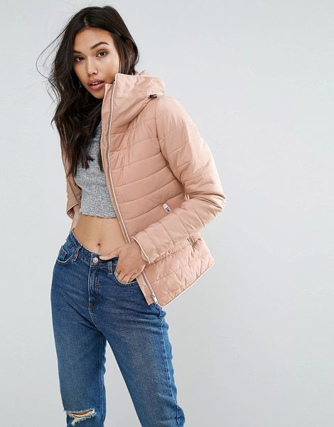 """Influence Padded Jacket in pink - """"""""Jacket by Influence, Lightweight padded fabric,..."""