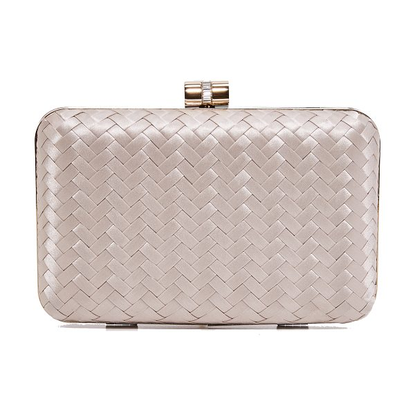 Inge Christopher eliza clutch in champagne - This sophisticated Inge Christopher hardshell clutch is...
