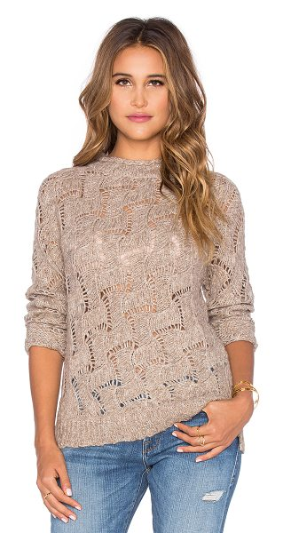 Inhabit Bohemian slub sweater in tan - 27% acrylic 23% nylon 23% wool 15% alpaca wool 12%...