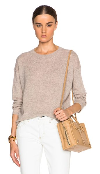 Inhabit Cashmere crew sweater in neutrals - 100% cashmere.  Made in China.  Knit fabric.  Rib knit trim.