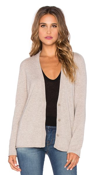 Inhabit Cashmere zip sleeve cardigan in taupe - 100% cashmere. Dry clean only. Front button closures....