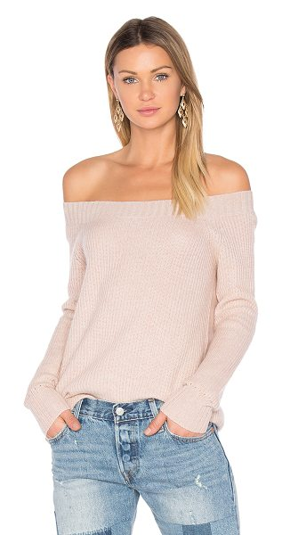 INHABIT Parisienne Off Shoulder Sweater - Cashmere blend. Hand wash cold. Rib knit fabric....