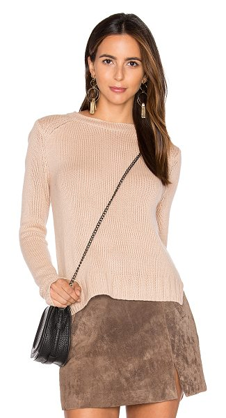 Inhabit Rib Cashmere Sweater in blush - 100% cashmere. Dry clean only. Knit fabric. INHA-WK165....