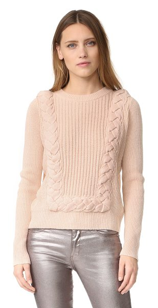 Intropia textured sweater in nude - A ribbed-knit Intropia sweater, detailed with thick,...