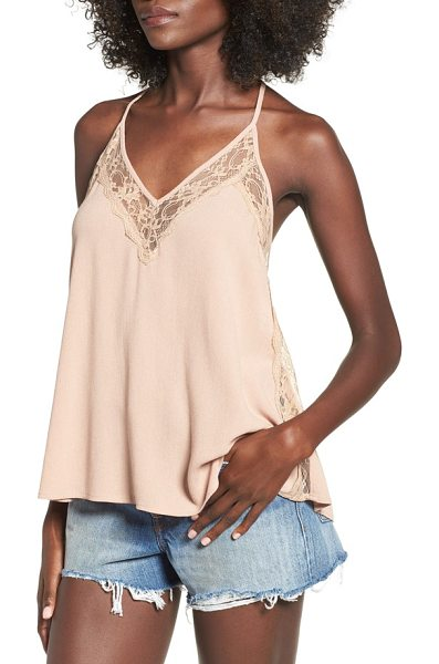 INTU lace trim woven camisole - Delicate lace frames the deep V-neckline and adds a...