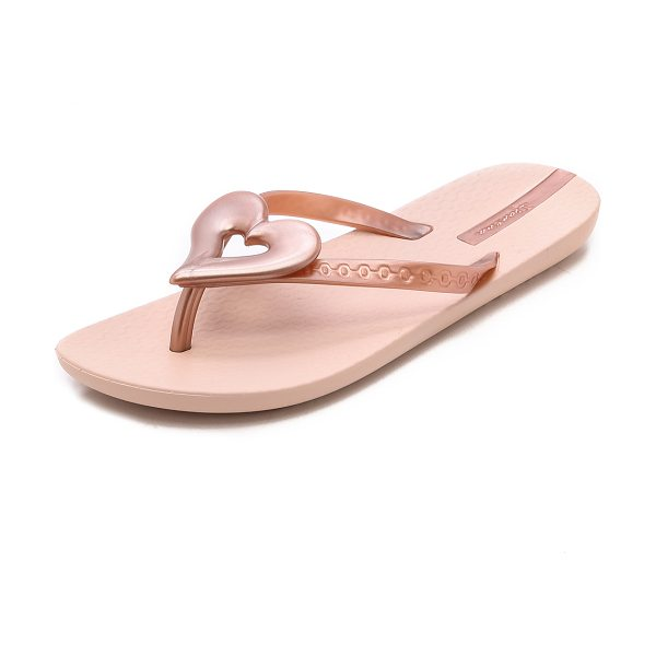 Ipanema Neo love iii heart flip flops in rose gold