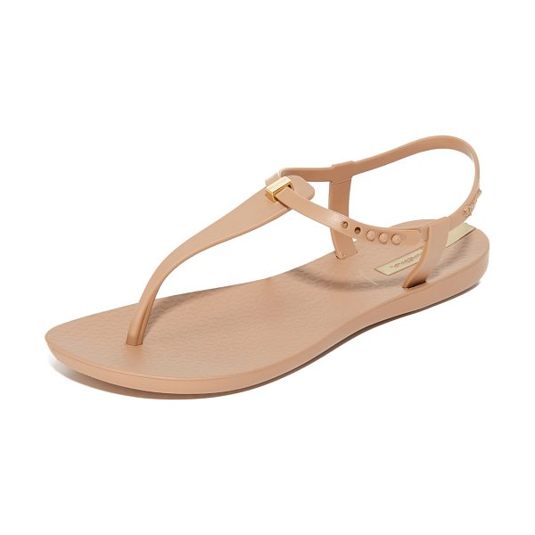 IPANEMA premium lenny desire sandals - A slim metallic accent details the T-strap on these...