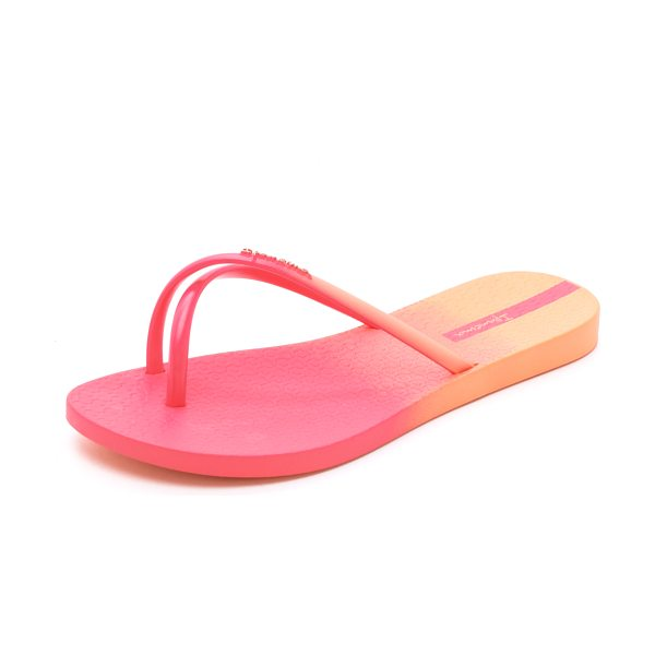 Ipanema Sunset ombre flip flops in orange/pink - Casual Ipanema flip flops with pretty ombré shading....