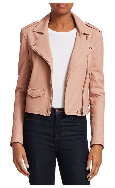 IRO ashville leather moto jacket in powder