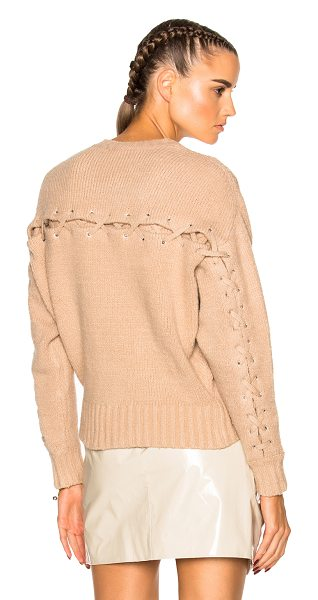 IRO Lish Sweater in neutrals - 80% cotton 16% polyamide 4% elastomeric.  Made in Italy....