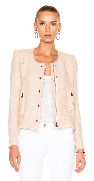 IRO Agnette Jacket in pink sand - Self & Lining: 100% cotton. Made in Poland. Dry clean...