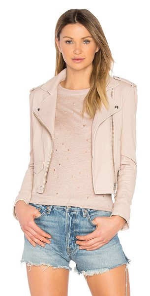 IRO Ashville Jacket in pink sand - Buttery soft and impeccably tailored, the Ashville...