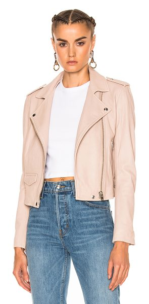IRO Ashville Jacket in pink sand - Self: 100% lamb leatherLining: 100% rayon. Made in...