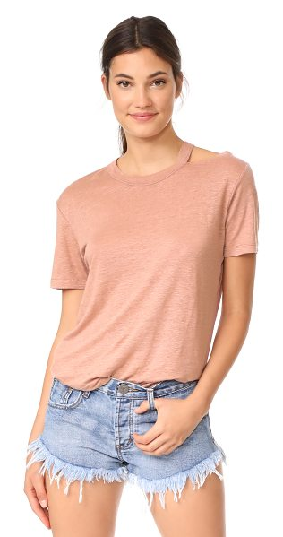 IRO bacau tee in old pink - This lightweight IRO tee is styled with a ripped...