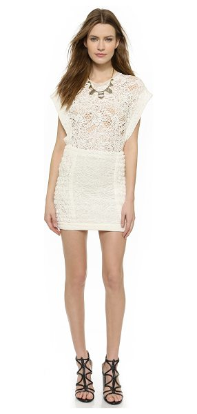 IRO Floa dress in ecru - Slinky lace brings a sultry look to this IRO mini dress,...