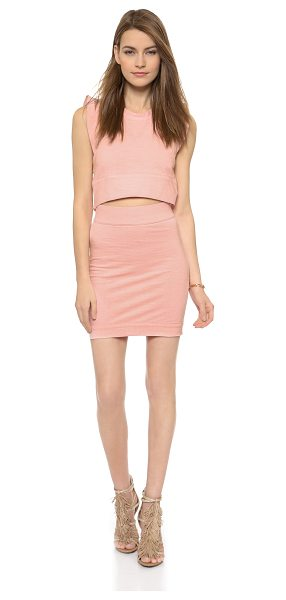 IRO Fulie dress - This jersey IRO dress has a cutout midriff for a...