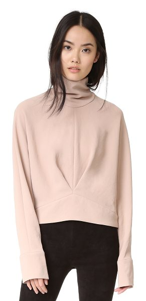 IRO greta top in nude - A center pleat relaxes the drape of this IRO blouse....
