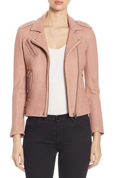IRO han leather moto jacket - Distressed leather jacket with classic moto details....
