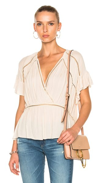 IRO Lesly Top in neutrals - 100% viscose.  Made in China.  Dry clean only. ...