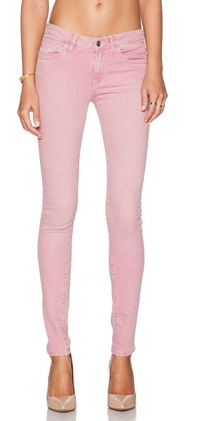 "IRO Narkyce skinny in old pink - 97% cotton 3% elastane. 12"""" in the knee narrows to 9""""..."