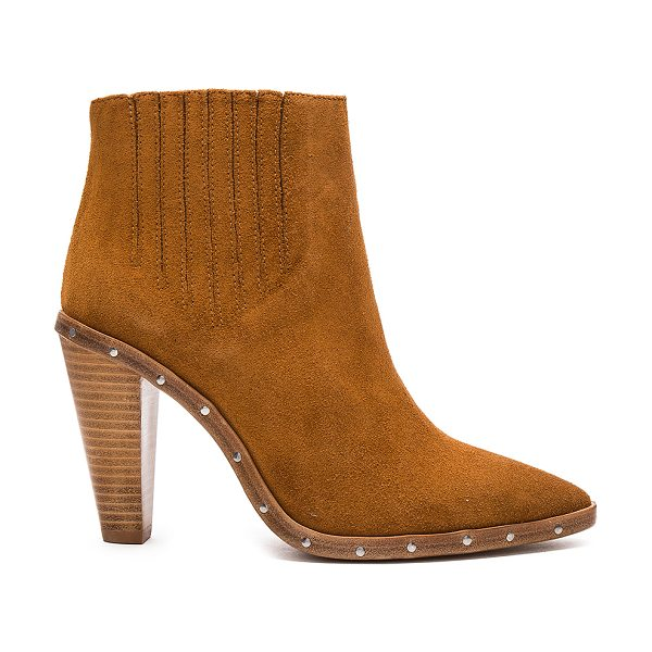 IRO Noliana Bootie - Suede upper with leather sole. Elasticized pull on...
