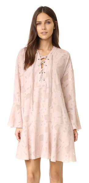 IRO ralene dress in nude - Sheer, irregular patches lend unexpected detail to this...