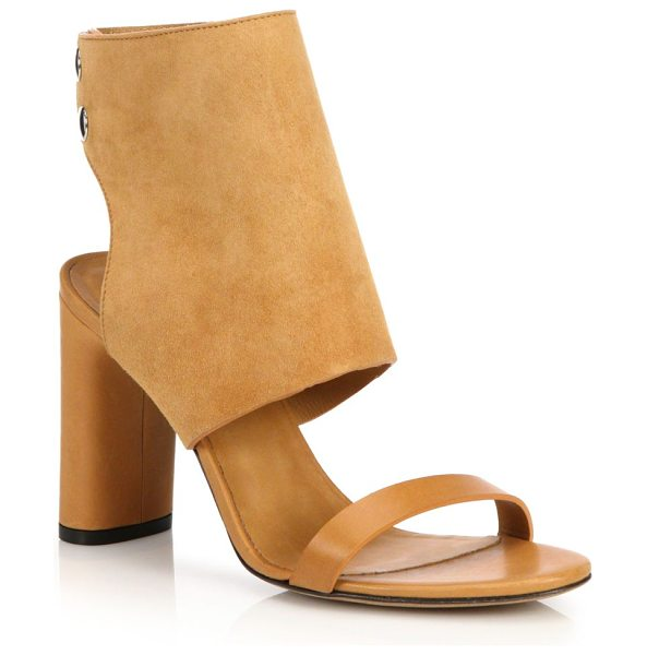 IRO Sils heels in camel - Luxe suede and leather with back zip closure....