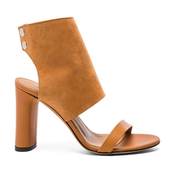 IRO Sils Sandal in tan - Suede and leather upper with leather sole. Snap button...