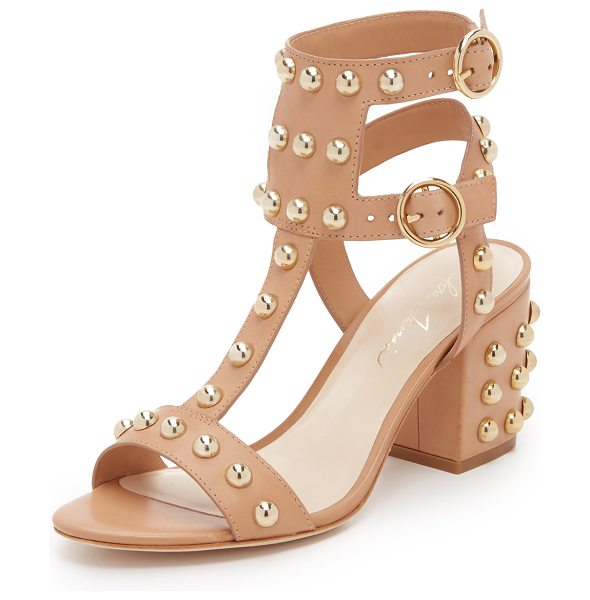 Isa Tapia Halo studded sandals in natural - Large studs bring bold shine to these Isa Tapia sandals....