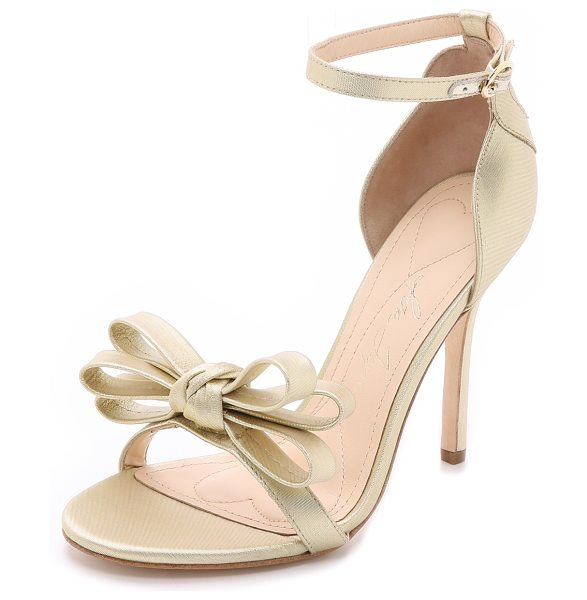 Isa Tapia Shelby sandals in gold - Bold, feminine Isa Tapia pumps with a brushed metallic...