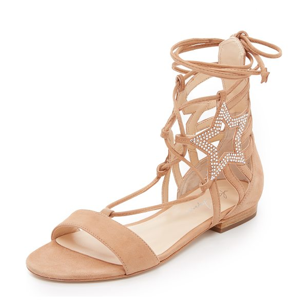 Isa Tapia Theos c suede flat sandals in natural