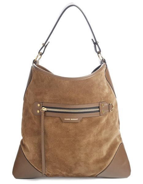 Isabel Marant amuko suede & leather hobo bag in beige