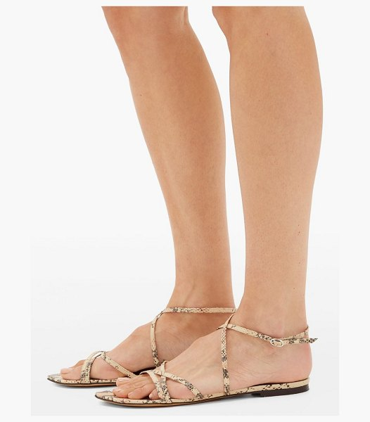 Isabel Marant apopee python-effect leather sandals in light pink