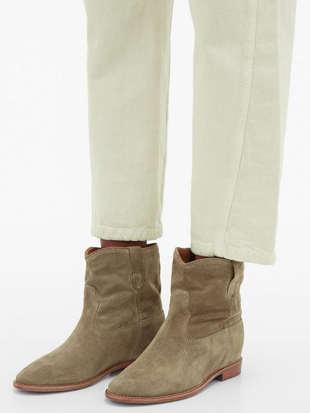 Isabel Marant crisi suede ankle boots in beige