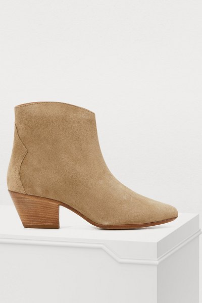 Isabel Marant Dacken heeled booties in taupe