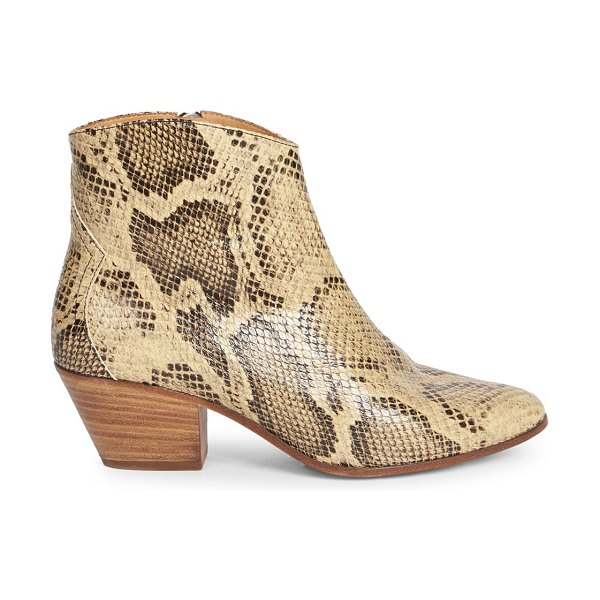 Isabel Marant dacken leather boots in neutral