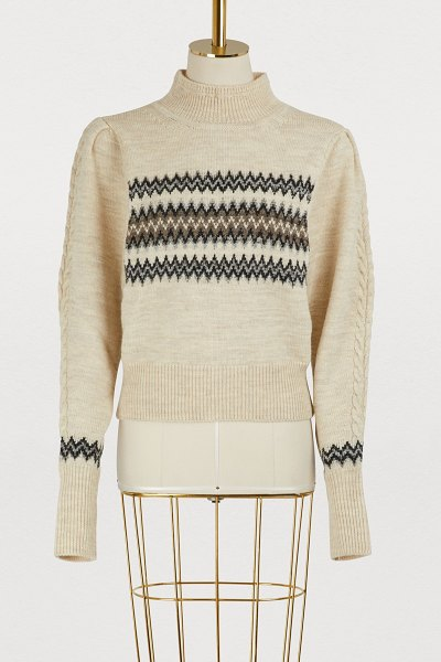 Isabel Marant Demi wool and cotton sweater in ecru - This Demie wool and cotton sweater by Isabel Marant is a...