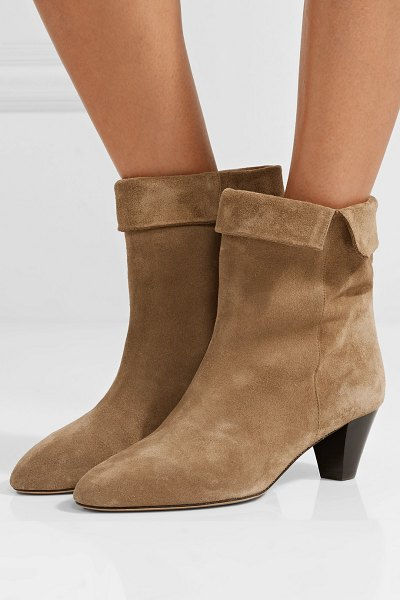 Isabel Marant dyna suede ankle boots in beige - Isabel Marant's versatile 'Dyna' boots work with...