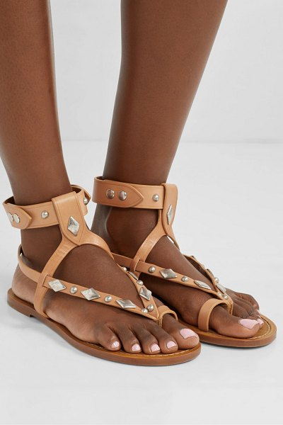 Isabel Marant enga studded leather sandals in tan