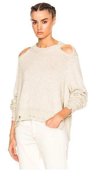 Etoile Isabel Marant Kelia Regular Sweater in neutrals - 70% cotton 30% wool.  Made in China.  Hand wash.  Knit...