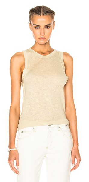 Etoile Isabel Marant Vegas Silk Tank in ecru - 100% silk. Made in Portugal. Hand wash. Pilling effect...