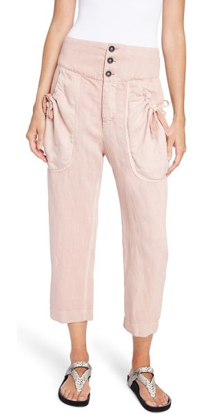 Etoile Isabel Marant weaver pants in light pink - Woven with a bit of linen for that perfect, rumpled...