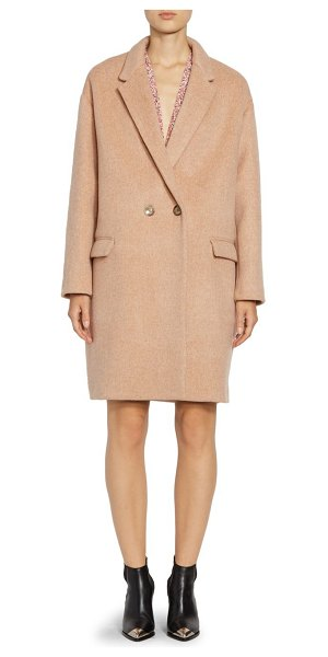 Isabel Marant filipo wool & cashmere coat in dusty pink - A nod to masculine tailoring, this luscious coat is cut...