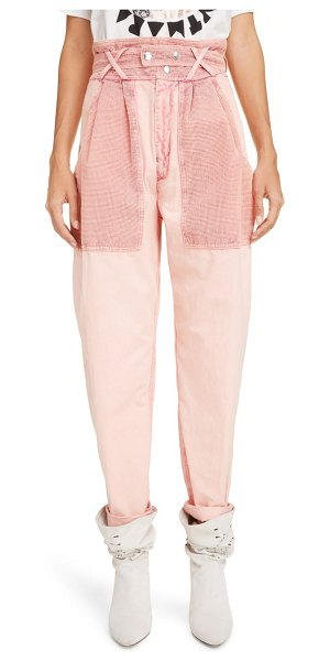 Isabel Marant high waist cotton pants in pink