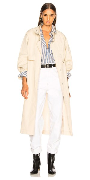 Isabel Marant jaci trench coat in ecru