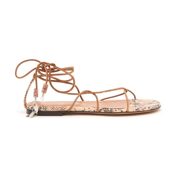 Isabel Marant jindia bead-embellished rope and leather sandals in tan