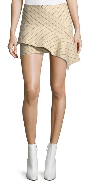 "ISABEL MARANT Kimura Pinstriped Flannel Mini Skirt - Isabel Marant ""Kimura"" pinstriped mini skirt. Low rise...."