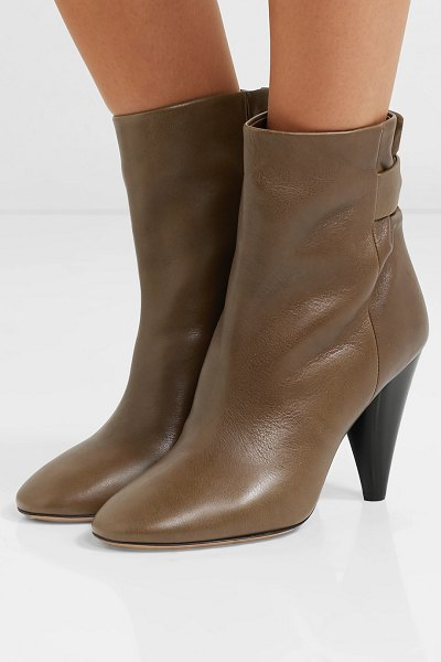 Isabel Marant lystal leather ankle boots in brown