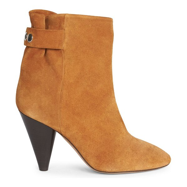 Isabel Marant lystal suede ankle boots in cognac