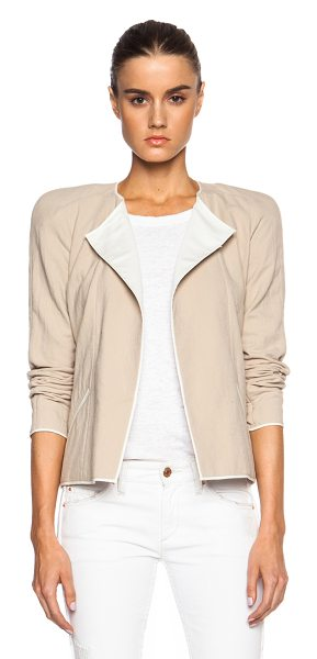 Isabel Marant Mable tubique cotton jacket in neutrals - Self & Lining: 100% cotton.  Made in Slovakia.  Open...